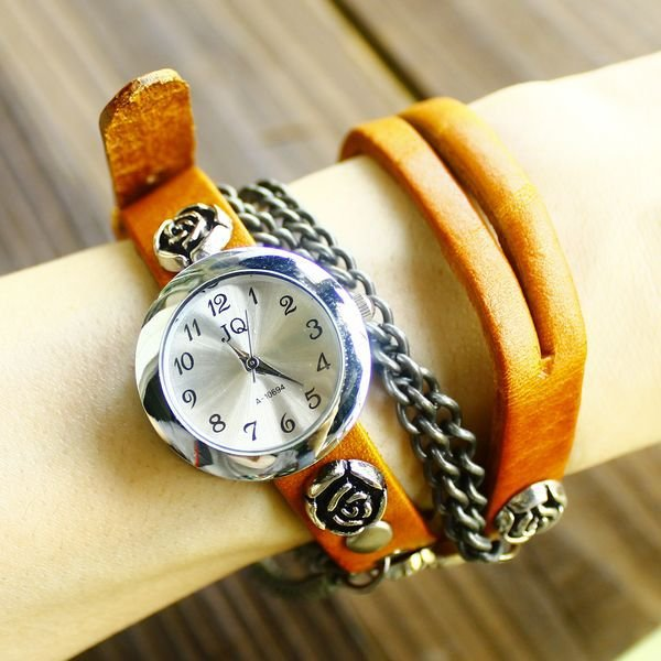 Genuine cow leather women watch
