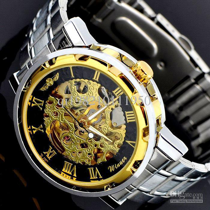 golden mechanical watch