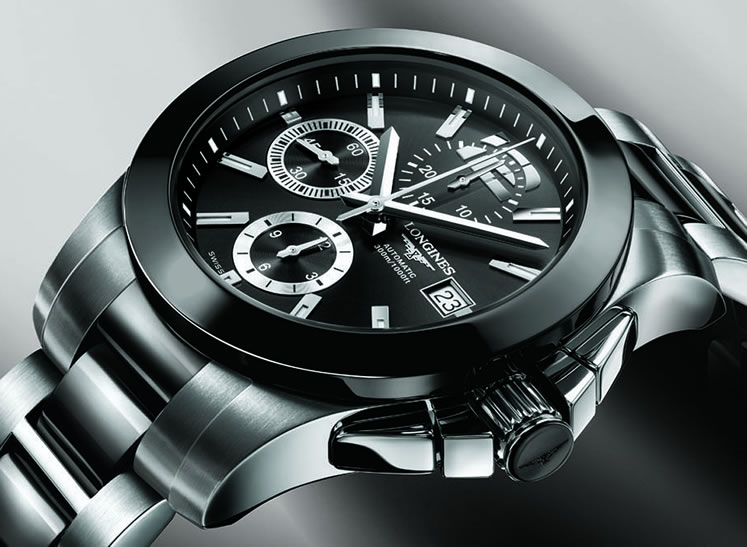 longines conquest chronograph watch
