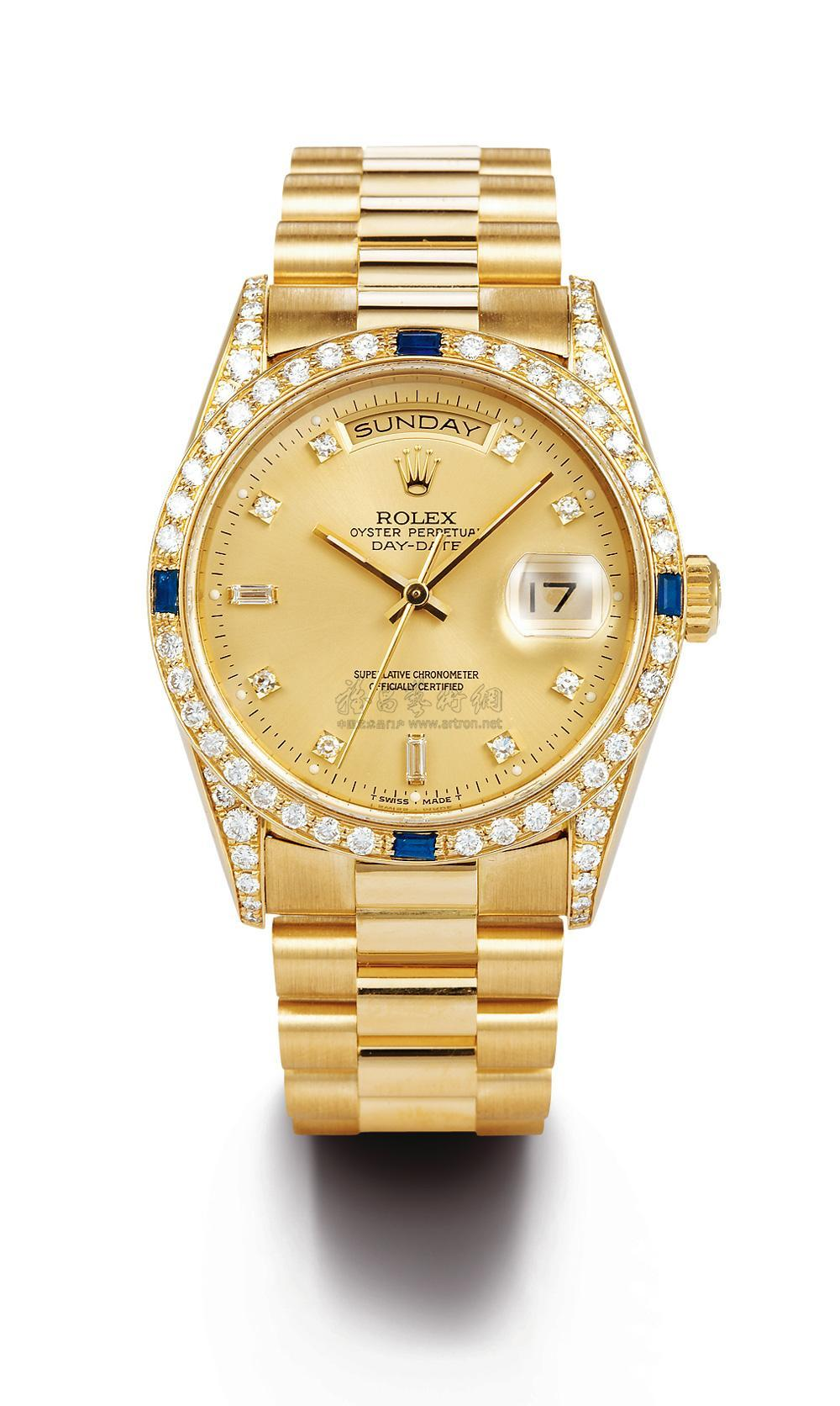 Rolex men's golden watch