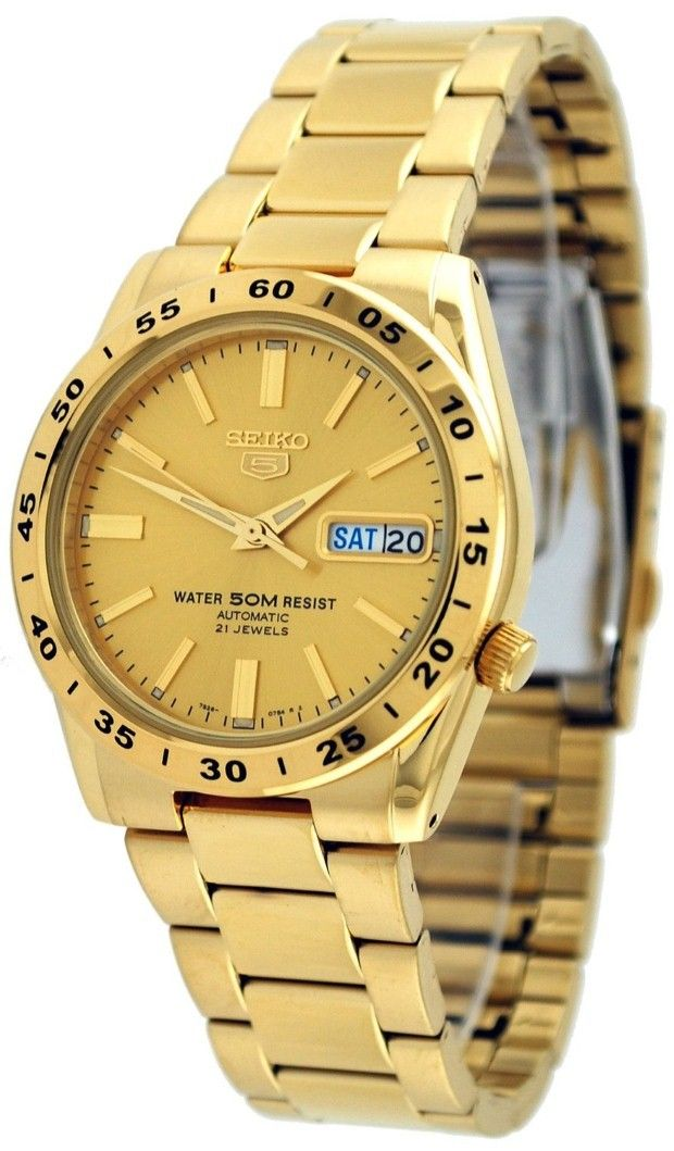 Gold watches for men Seiko
