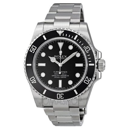 Rolex Submariner Black Dial Stainless Steel Automatic Mens Watch