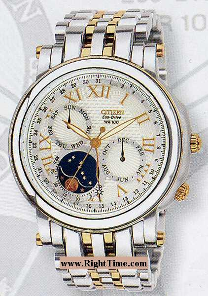 citizen white gold watch